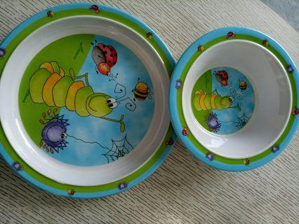🚚 Melamine plate and bowl