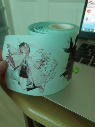 Japanese style washi-stickers (8 different designs)