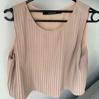 Shopatvelvet Nude Crop Top