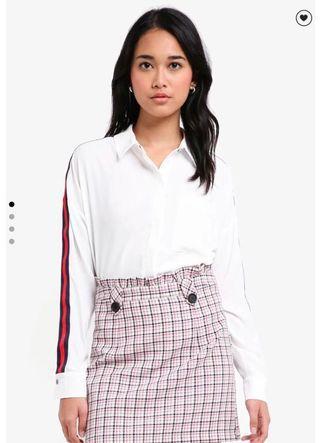 TOPSHOP Side Stripe Shirt