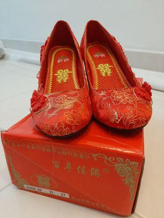 Chinese Style High Heels Shoe