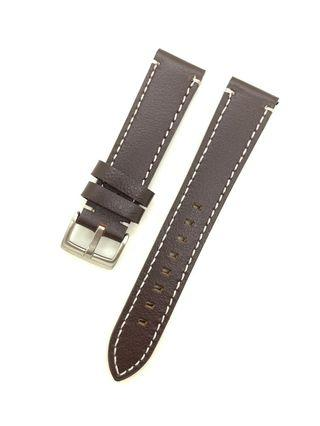 20mm Dark Brown Genuine Leather Watch Strap Watchband