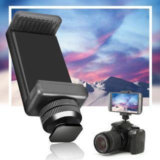 1/4 Flash Hot Shoe Screw Adapter Tripod Mount Phone Clip Holder For DSLR Camera