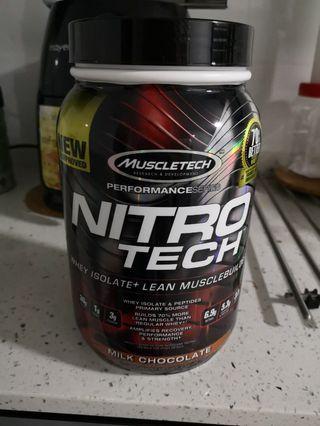 Nitro Tech Whey Isolate+ Lean Muscle building 2lb Milk Chocolate