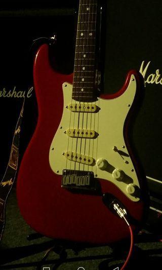 Beyond Fender American standard Stratocaster dakota red 1987