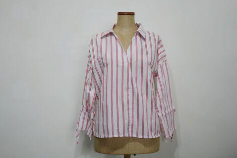 🚚 Red Stripes Blouse