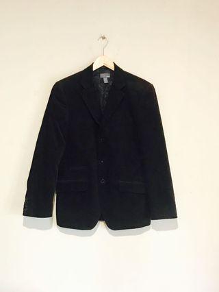H&M Classic Dark Brown Corduroy 3 Button Blazer #mauvivo