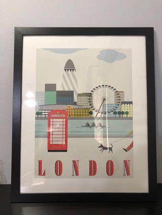🚚 London Poster (WITH FRAME)