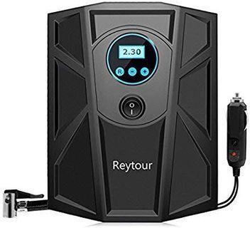 [HG288] Air Compressor Portable Handheld Car, reytour Digital Tyre Inflator 12 V 100 Psi Air Compressor for Car, Motorcycle, Bike, Truck, Rv, beds, etc.