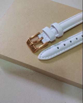Daniel Wellington Leather Strap 12MM Width (white color)