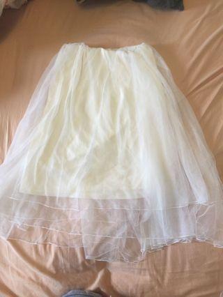 🚚 紗裙  白色