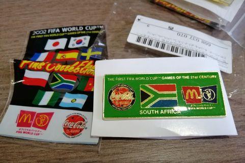 Fifa 2002 Mcdonalds cola pin south africa