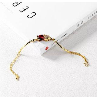 Ruby Pixiu Gold Bangle Bracelet