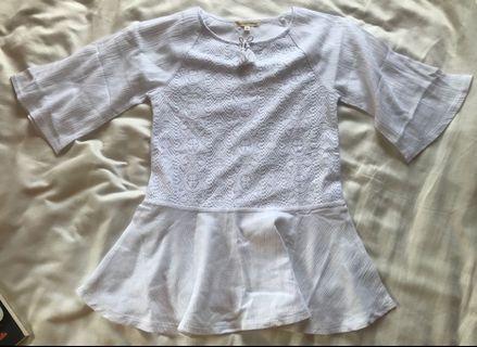買嘢送 白色 女裝 上衣 衫