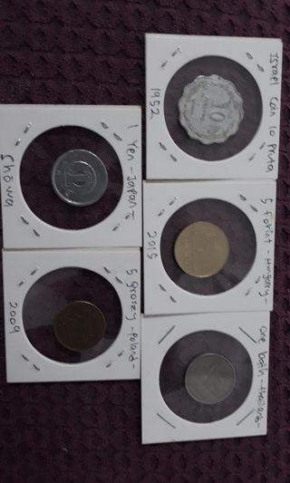 Lot of 5 coin world