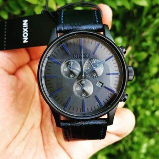 Original Nixon Men's A4052153 Sentry Chrono Dark Blue Watch