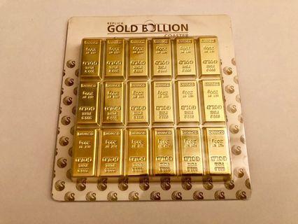 🚚 Gold Bullion Replica Coaster