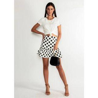 Size 12 Polka Dot Mini Skirt