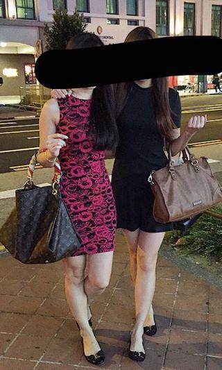 Love bonito bodycon dress is red