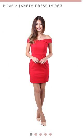 🚚 Mgp label janeth dress in red