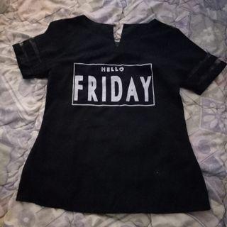 Baju transparan hitam