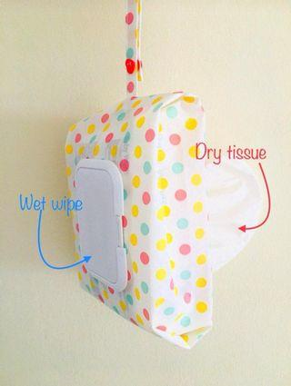 Wet and Dry tissue Bag (2-in-1 Tissue Bag)