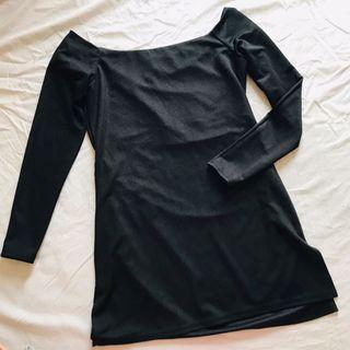 River Island top black top 全新黑色中袖上衣 內搭單穿均可 英國製造 size 8