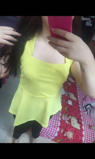 Yellow tank H&M