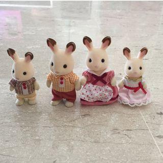 Sylvanian Families: Chocolate Rabbit Family