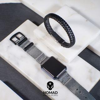 Chester Leather Bracelet in Black