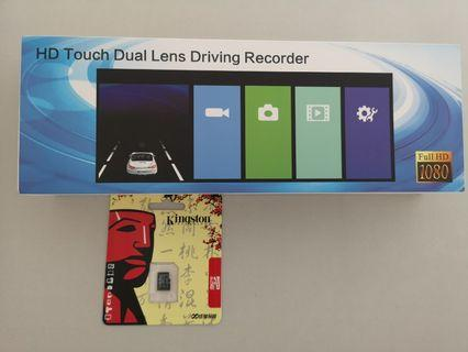 """6.8"""" inch wide touch screen rear view dash camera.come with reverse camera.**free 32gb sd card**"""