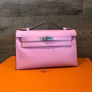 🚚 Hermes Kelly Pochette in Rose Confetti Epsom