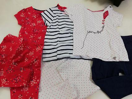 Baby girl 3 sets mix and match