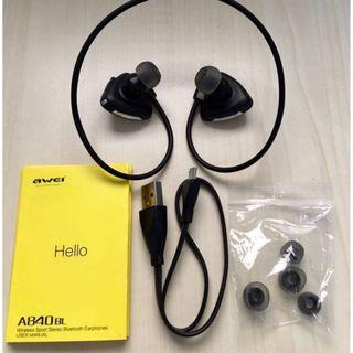 Awei Wireless A840BL Bluetooth 4.0/NFC Function Headphone NFC Mint In Box!