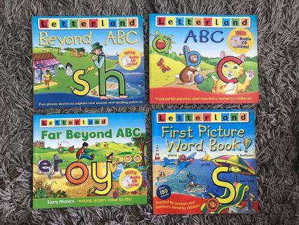 🚚 15 Letterland Books FREE CDs & VCDs
