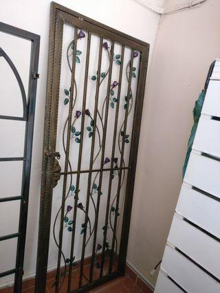 Wrought iron grille door with lock #RayaHome