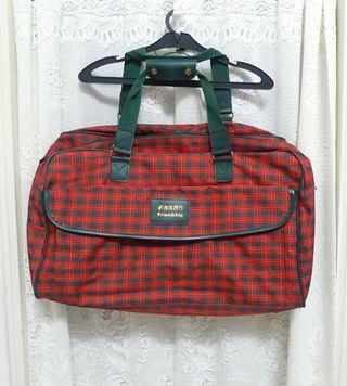 🚚 格紋大包 旅行包 購物包