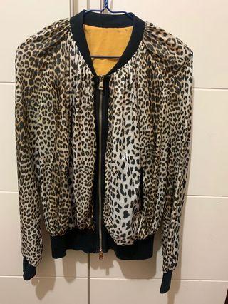 豹紋女裝薄外套