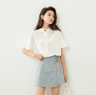 [PO] ULZZANG SKIRT WITH SIDE LACE
