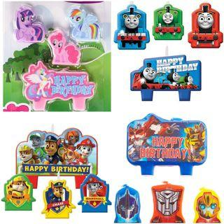 🚚 Preorder Character birthday candles