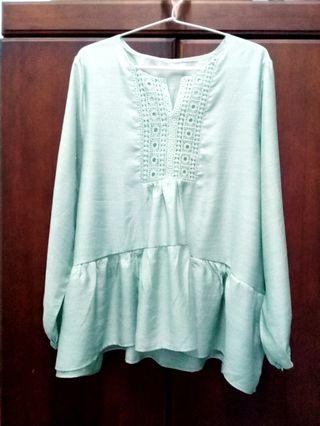 Mint Green Top #blouse