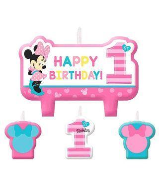 🚚 Preorder Minnie 1st Birthday Candles