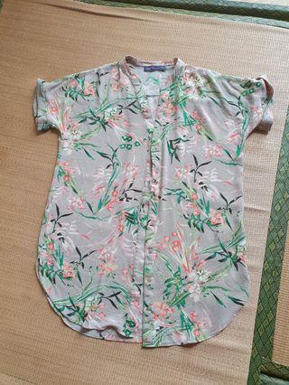 🚚 Marks & Spencer Short Sleeve Blouse Shirt M&S Collection Floral