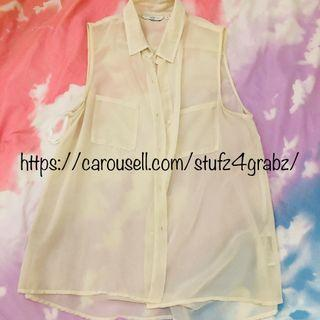 Neu Look Off White Blouse Top