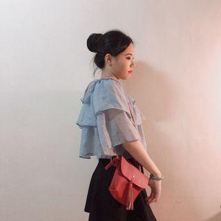 🚚 春夏流蘇款荔枝紋皮革網紅肩背包側背包(全新)