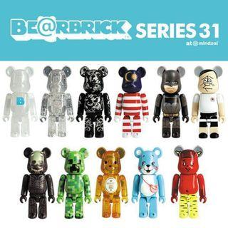 全新未開封原箱一盒共24pcs Bearbrick BE@RBRICK 100% Medicom SERIES 31
