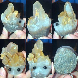 天然黃水晶/晶簇/原礦/刺蝟🦔