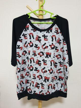 Plus size - Mickey Alphabets Tee