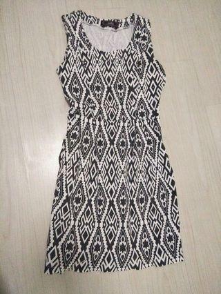 Printed semi-formal dress