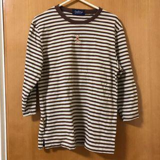 啡色橫間衫 brown striped top